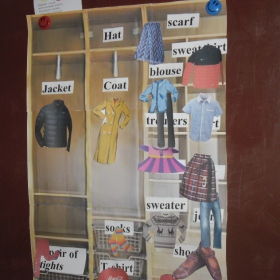 "Вправа ""Розклади одяг на поличках шафи"""
