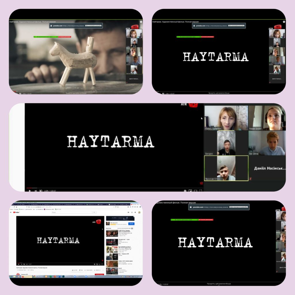 "Deportation of Crimean Tatars. Watching the movie  ""Haytarma"""