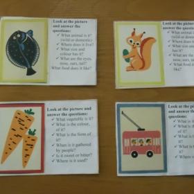 Картки для розвитку мовлення