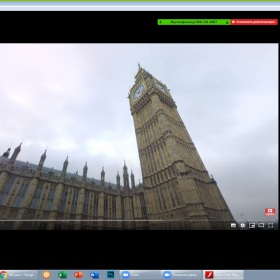 Zoom lesson in the  8-B.  Panorama 360` virtual travelling to London.