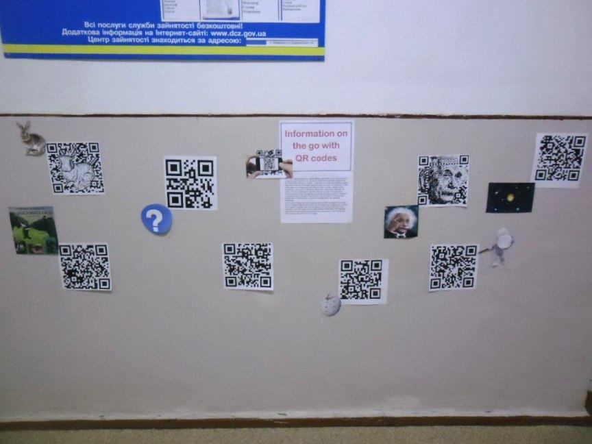 """Information on the Go with QR codes"""
